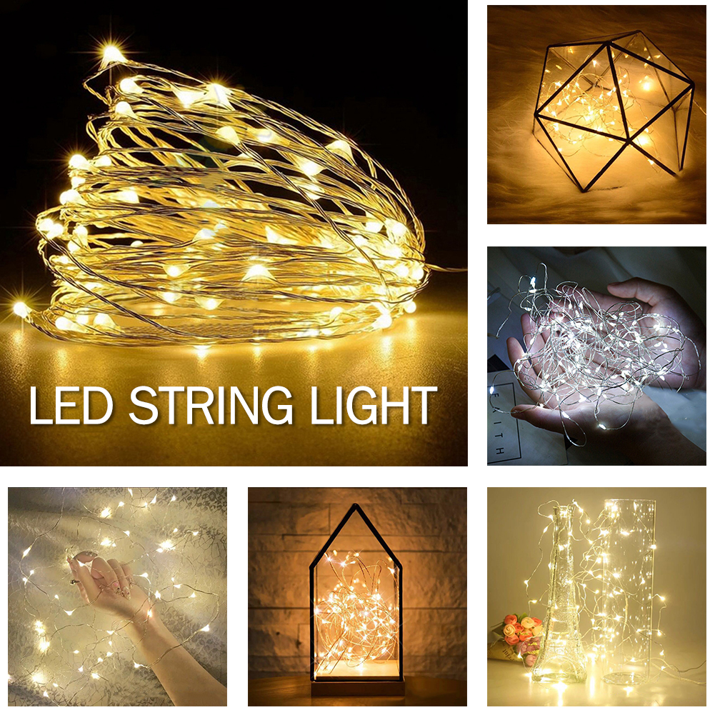 30LED 3m Christmas Decoration Home Parties Decor LED Multi-Purpose Copper String Light Manual 2AA Battery Connector String Light