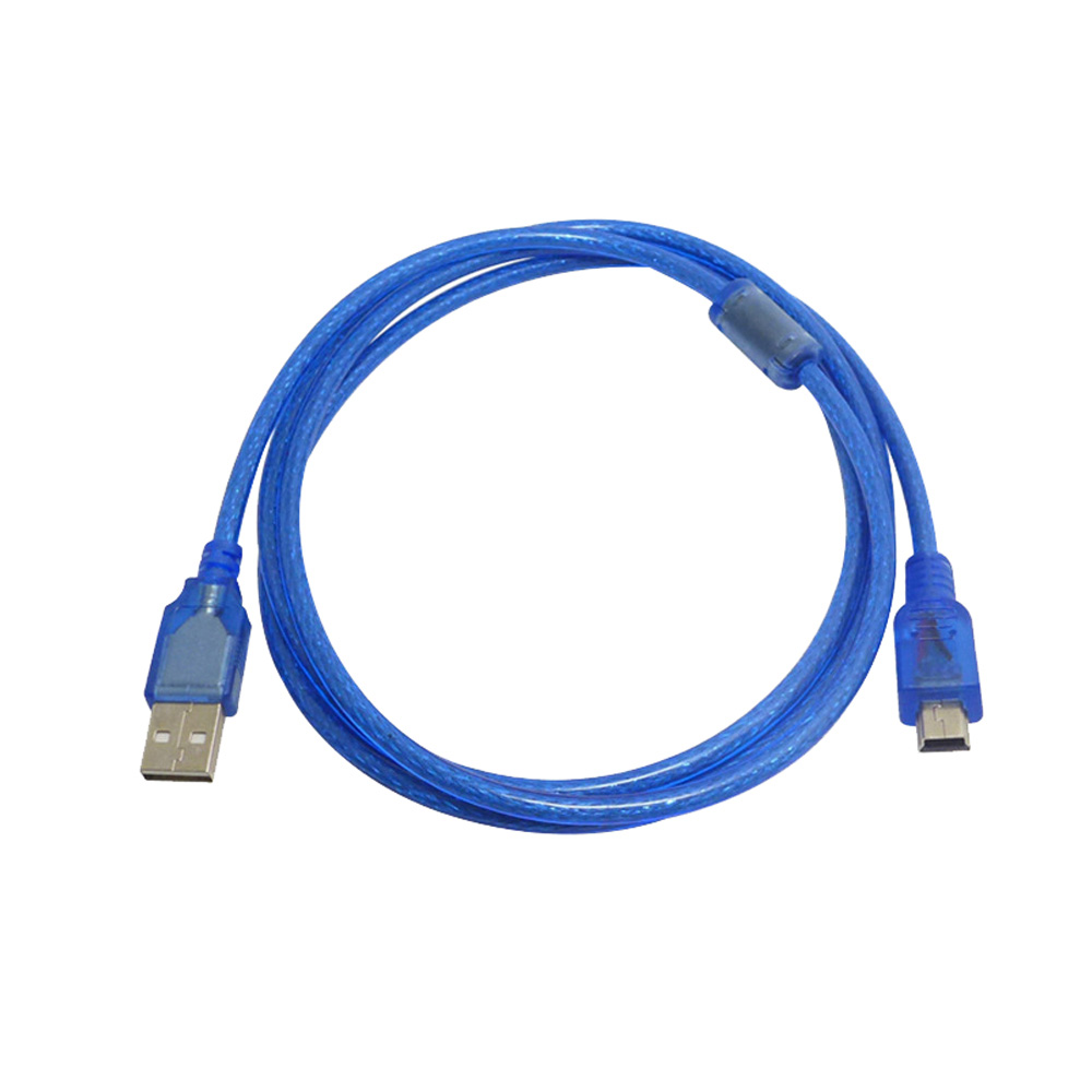 USB 2.0 Type A To Mini 5Pin Male Data Cable 30cm 3m 150cm 5m Mini 5P USB Cabllde Foil+Braided Shieing Data Cable  Interference