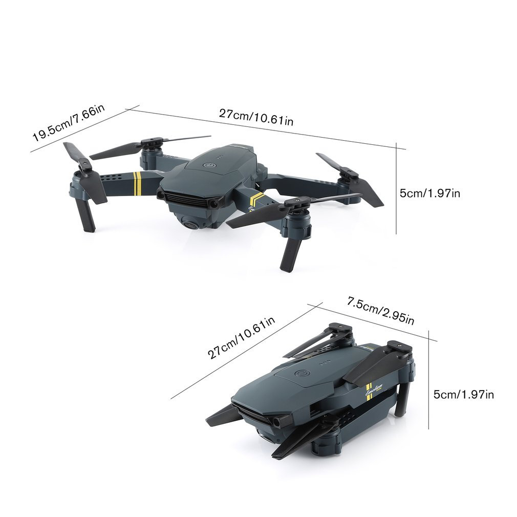 LX808 2.4Ghz WIFI FPV Foldable RC Drone With Wide Angle HD Camera Altitude Hold Headless Mode RC Model Aircraft RTF 5