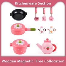 Classic Toys Pretend Play Wooden Toy House Kitchen Cooking P