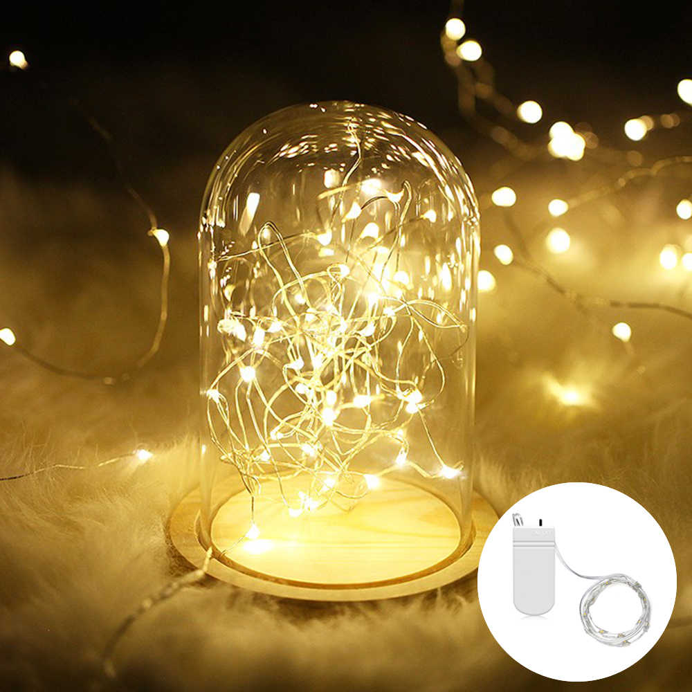 2M 20 LED String Lights Home DIY Fairy Light Christmas Bottle Lights String Party Wedding Decoration Battery Powered LED Garland