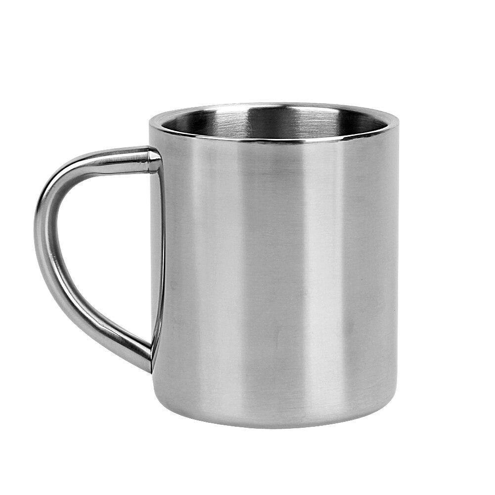 220ml Stainless Steel Mug Student Double Wall Mugs Travel Tumbler Coffee Tea Mugs Drinkware Handle Travel Cups 1