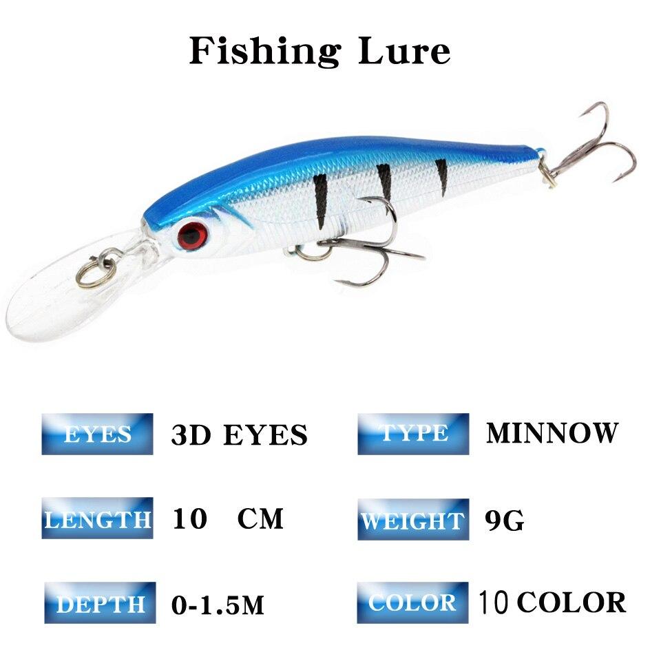 20Pcs Mixed Floating Fishing Lure Bait Set Wobbler Crankbaits Swimbait Minnow Hard Baits Spiners Carp Fishing Tackle