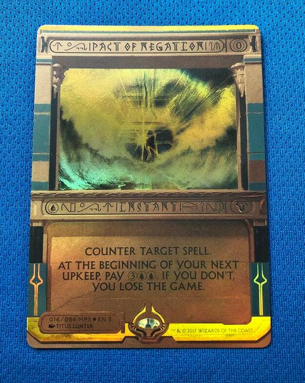 Pact Of Negation  Amonkhet Invocations (MP2) Golden Holofoil Magician ProxyKing 8.0 VIP The Proxy Cards To Gathering Single Mg