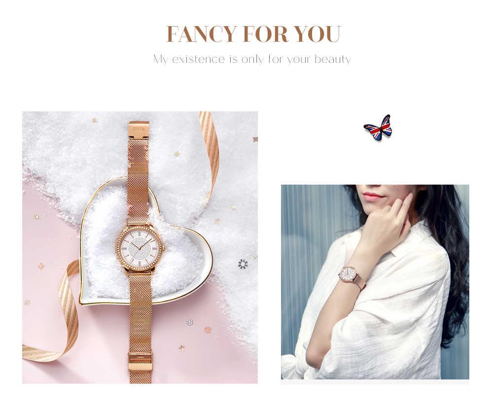 Relojes de pulsera de diamantes de imitación de cuarzo japonés de diamantes de imitación para mujer, relojes de vestir de lujo para mujer, reloj femenino, envío directo