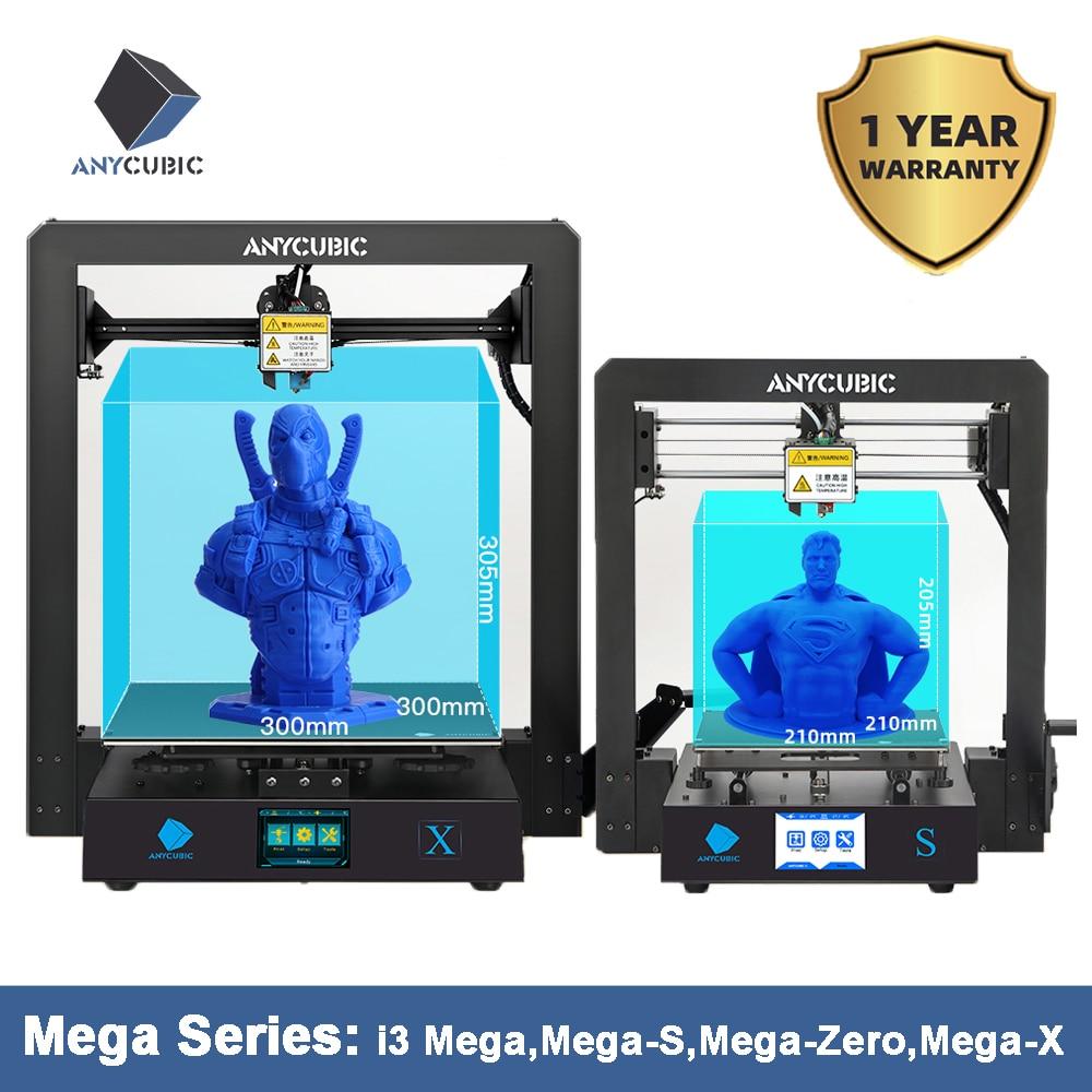 ANYCUBIC i3 Mega Series drukarka 3d mega s/mega x/mega zero pełna metalowa rama z ekranem dotykowym wysoka precyzja 3d drucker impresora 3dDrukarki 3D   -