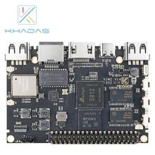 كمبيوتر شخصي صغير Khadas VIM2 Max مزود بنظام Linux Ubuntu Mate 16.04 ، لوحة تطوير الذراع ثماني النواة DDR4 3GB eMMC 64GB AP6398S