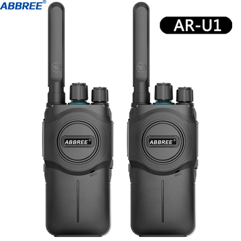 2PCS ABBREE AR-U1 Walkie Talkie CB Radio Transceiver 5W 10km Lange Palette Tragbare für Jagd Wald Stadt upgrade Baofeng BF-888S