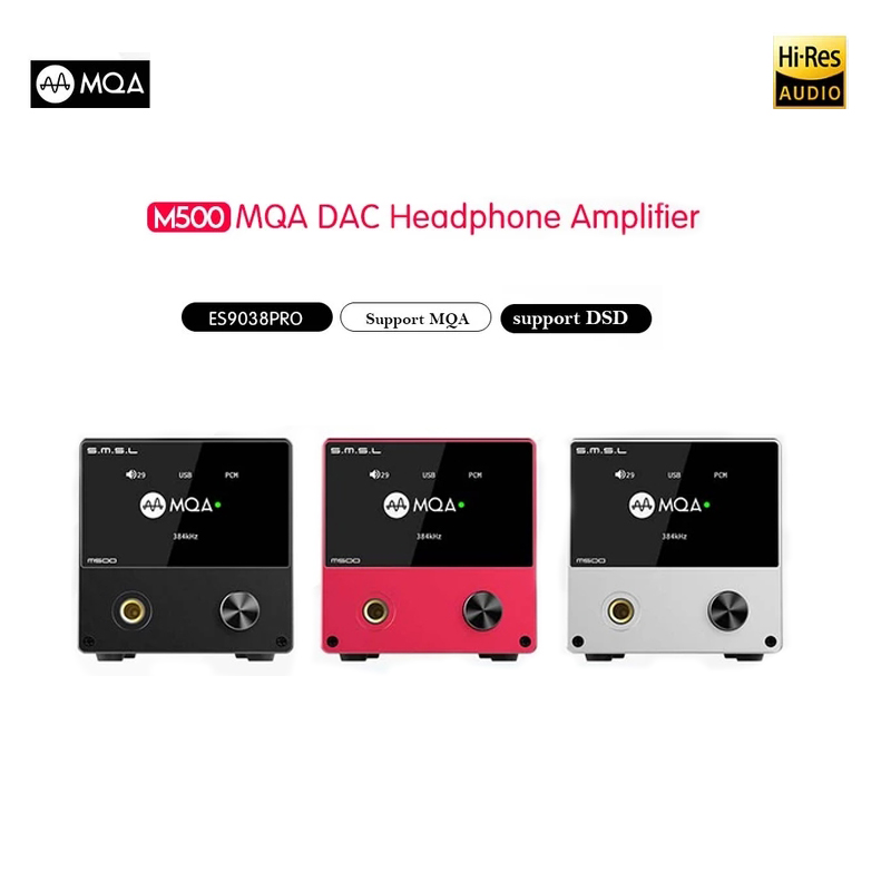 SMSL M500 MQA dac Amplificatore Per Cuffie ES9038PRO AUDIO Decodifica DAC USB XMOS XU216 DSD512 32Bit/768 Khz USB/ OPT/COASSIALE ingresso