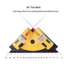 купить Laser Level Right Angle 90 Degree Deco Infrared Line Recreation Leisure Leveling Tool Triangular Ruler Woodworking  Tiles Line по цене 632.92 рублей