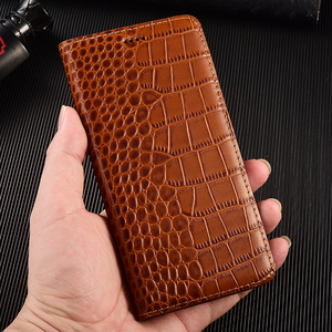 Image 5 - Crocodile Genuine Flip Leather Case For Huawei Y5 Y6 Y6S Y7 Y9 Y9S Y5P Y6P Y7P Y8P Prime 2017 2018 2019 2020 Phone Cover Cases