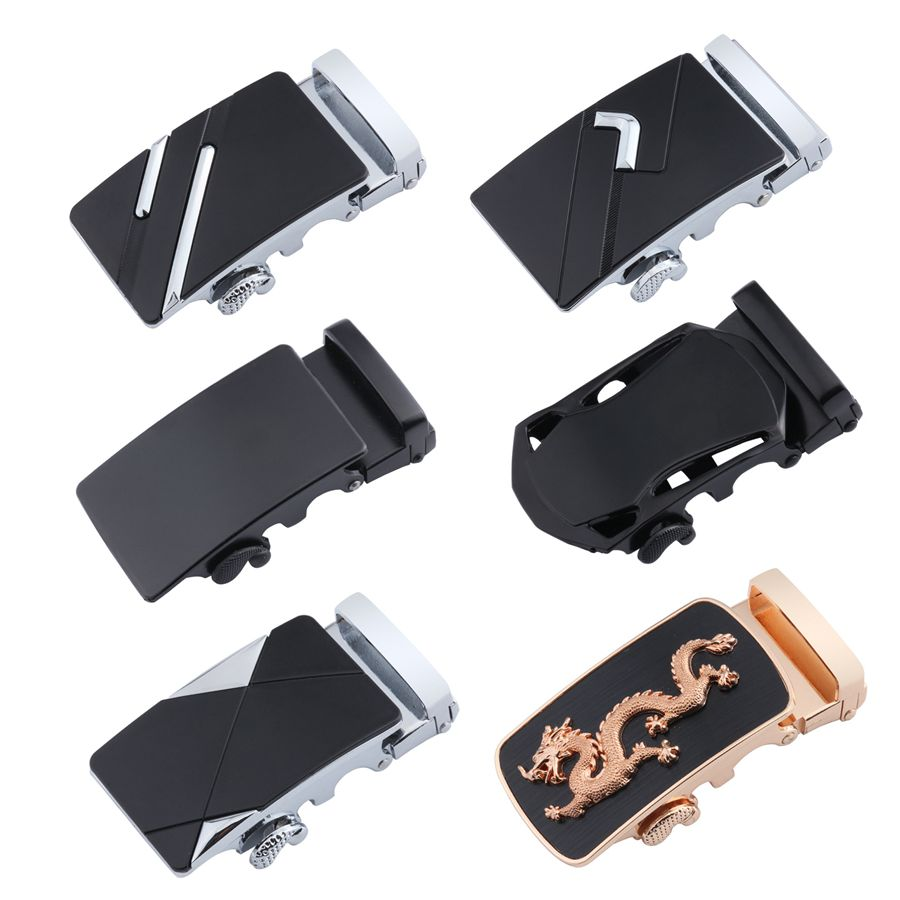 Fashion Metal Belt Buckle For Men's Business Alloy Automatic Buckle Unique Men Plaque Belt Buckles 4cm Width Men Apparel