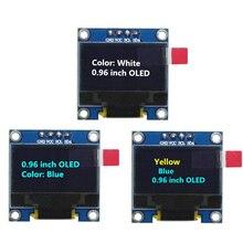 0.96 بوصة 128X64 أزرق/أبيض/أصفر أزرق OLED وحدة عرض IIC التواصل لاردوينو لتقوم بها بنفسك عدة