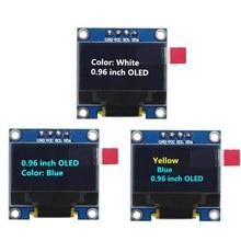 Módulo de pantalla OLED azul/blanco/amarillo azul 128X64 de 0,96 pulgadas, comunicación IIC para Kit arduino Diy