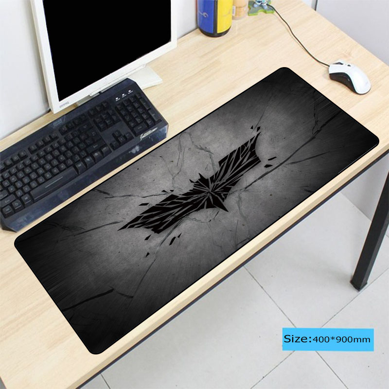 900*400*3MM Batman Gaming Mousepad Big Gamer Mouse Mat Pad Game Computer Desk Padmouse Laptop Keyboard Logo Play Mats