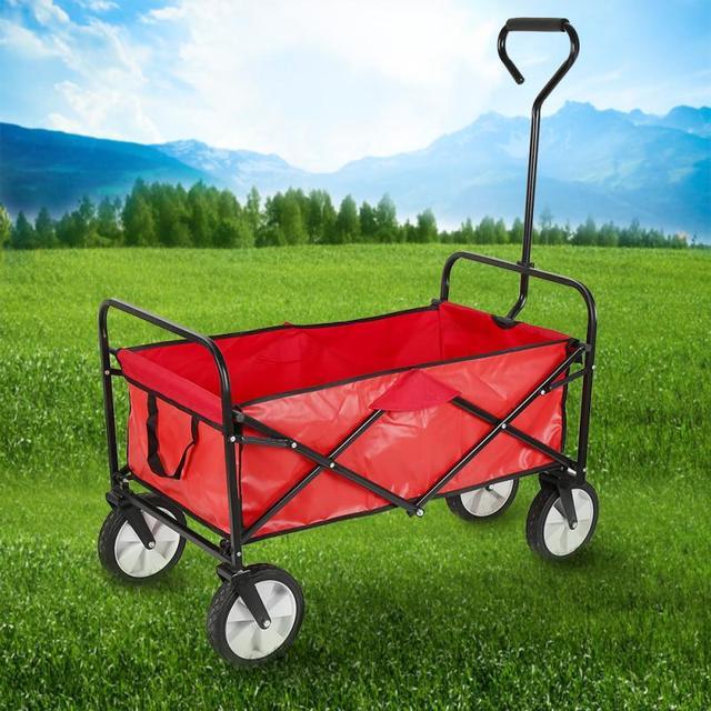 69*13 5*55cm wózki ogrodowe obciążenie 80kg wytrzymały poliestrowy wózek ogrodowy z 4 kółkami składany wózek ogrodowy HWC tanie i dobre opinie CN (pochodzenie) Garden Carts 10 2kg Wholesale Dropshopping Utility Wagon Cart