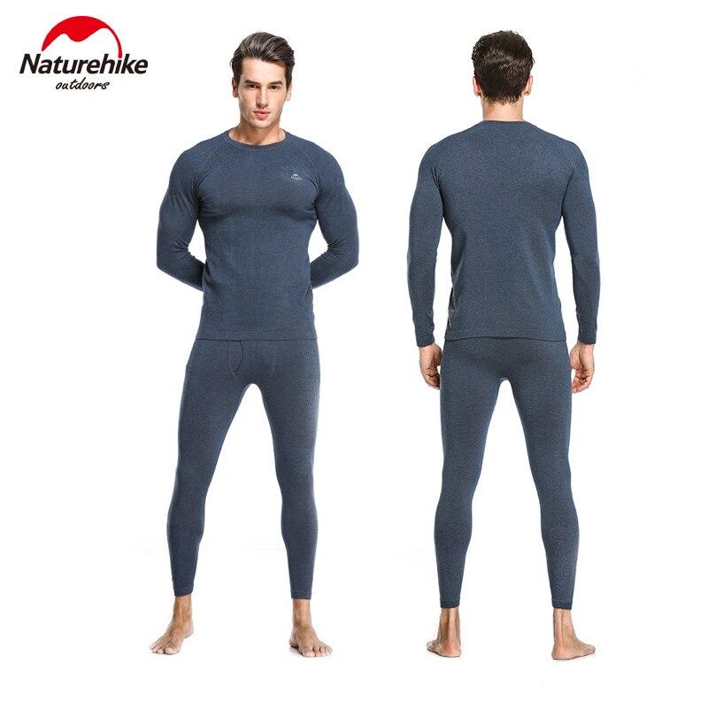 Naturehike HeatMax Thermal Underwear Man And Woman Self-heating Winter Fitness Ski Sport Function Thermal Underwear Office Work