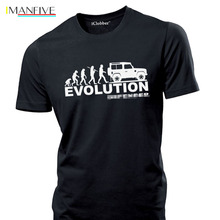 2019 New Mens T Shirts Evolution shirt Rover Off Road 4x4 Jeep Tee