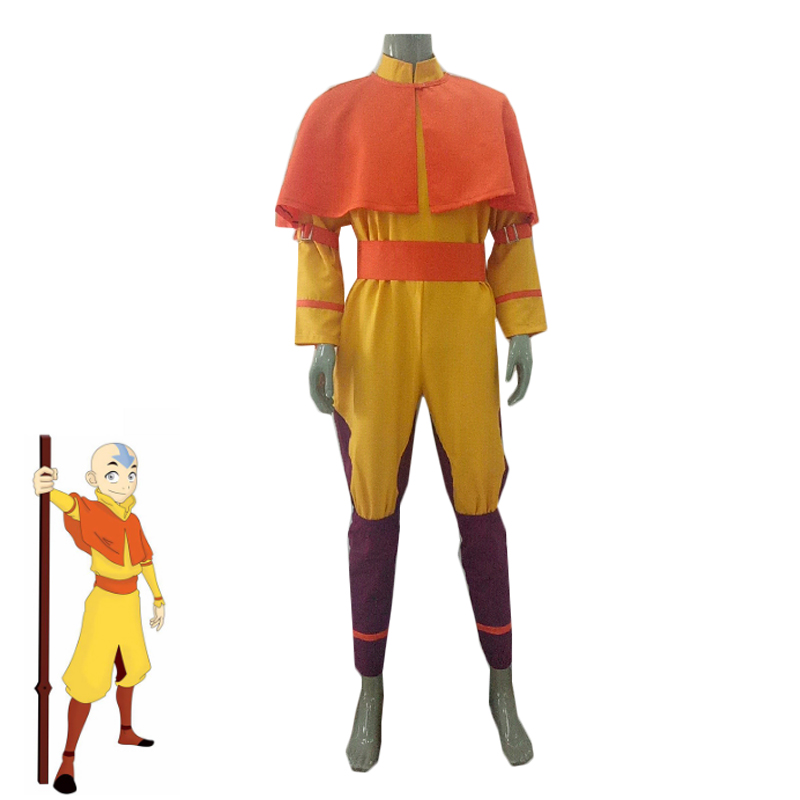 Cartoon Movie Avatar: The Last Airbender Aang Cosplay Costume Fancy Suit Adult and Kids Halloween Carnival Uniforms Custom Made