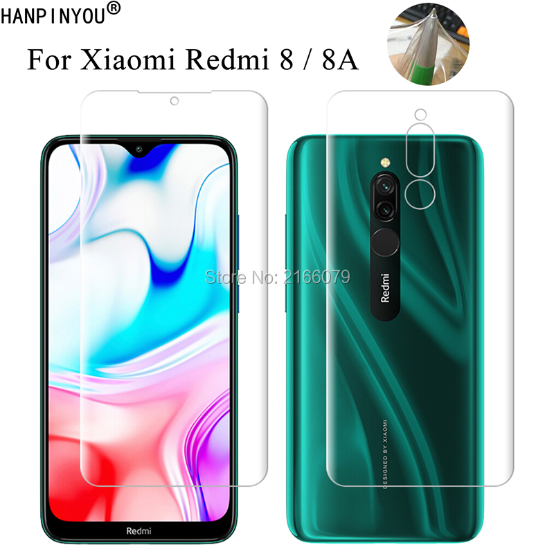 For Xiaomi <font><b>Redmi</b></font> <font><b>8</b></font> Redmi8 / 8A Clear TPU / Matte Anti-Fingerprints <font><b>Hydrogel</b></font> Front Back Full Cover Soft Screen Protector Film image