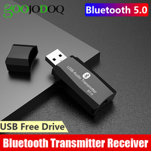 USB Bluetooth Transmitter Receiver 2-in-1 Bluetooth 5.0 For TV PC Home Stereo Speaker 3.5mm AUX Wireless Audio Bluetooth Adapter
