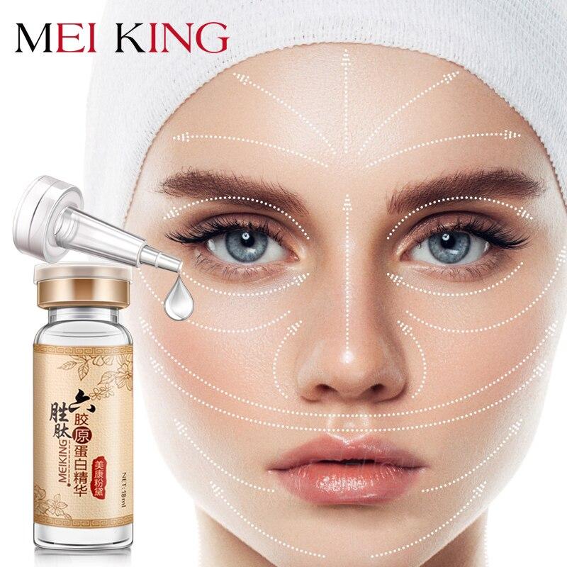 MEIKING Hyaluronsäure Argireline Sechs Kollagen Peptide Anti Falten Gesicht Serum Anti-Aging Essence Feuchtigkeits Bleaching Creme