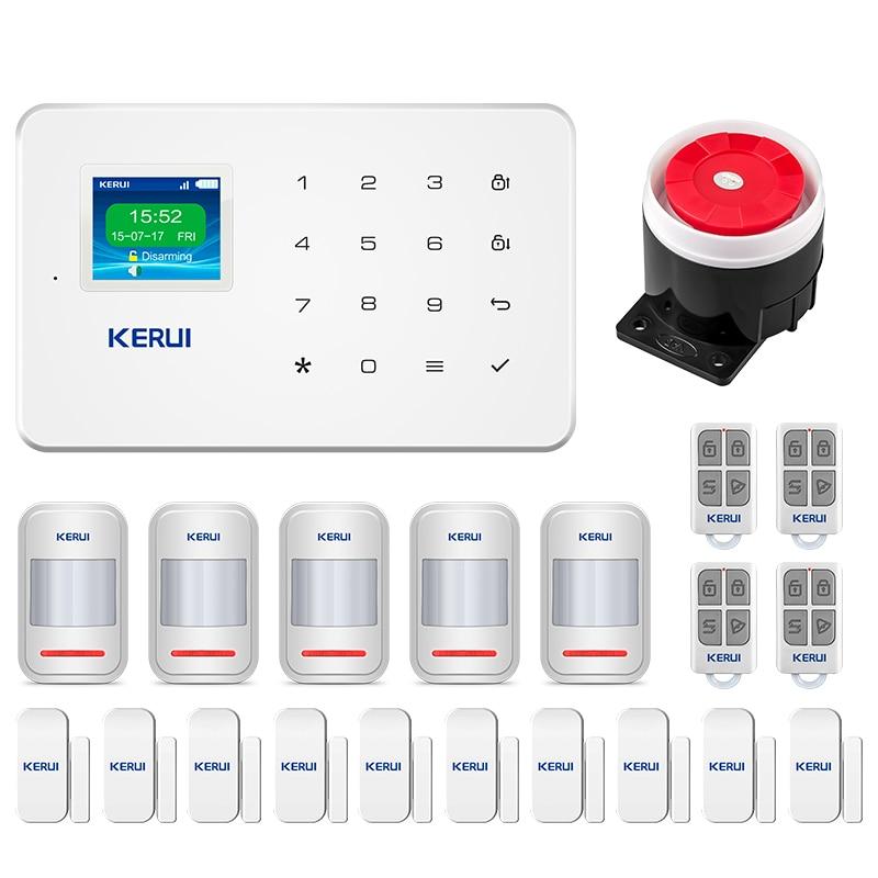 Kerui G18 Gsm Wireless Alarm Systems Security Home Sim Smart