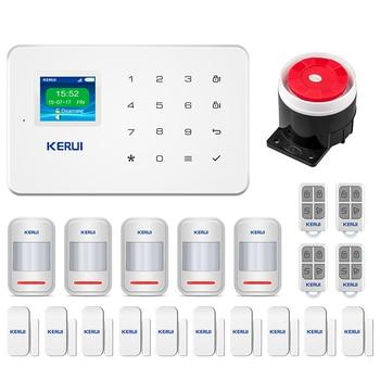 KERUI G18 GSM Wireless alarm systems security home SIM Smart Alarm System Android IOS APP Control Motion Detector Sensor Burglar 2018 kerui w18 wireless wifi gsm burglar security home alarm system android ios app wireless smoke detector wifi smart socket
