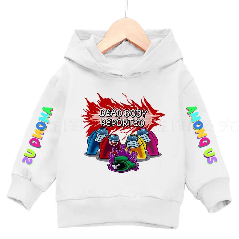Game Among Us Hoodie Boys Teens Long Sleeve Pullover Sweatshirt Funny Outwear
