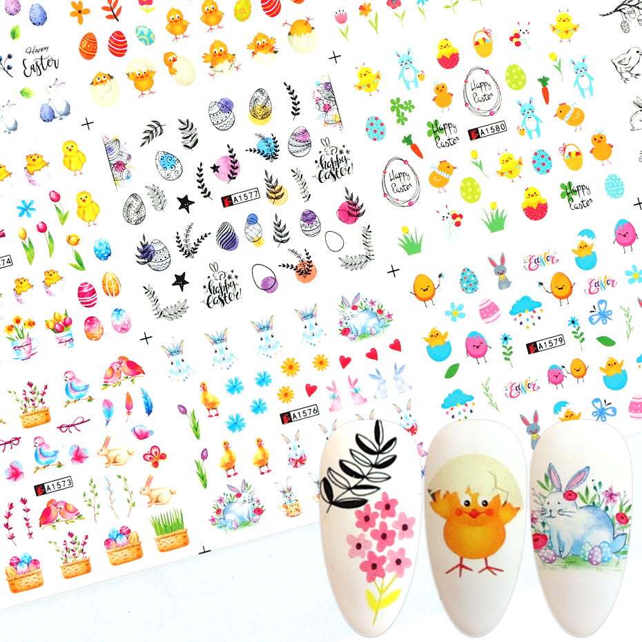 Animal Water Transfer Stickers For Nails