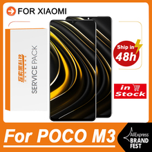 100% testowane 6.53 wymiana wyświetlacza dla Xiaomi Poco M3 LCD ekran dotykowy Digitizer zgromadzenie dla Xiaomi Pocophone M3 M2010J19CG