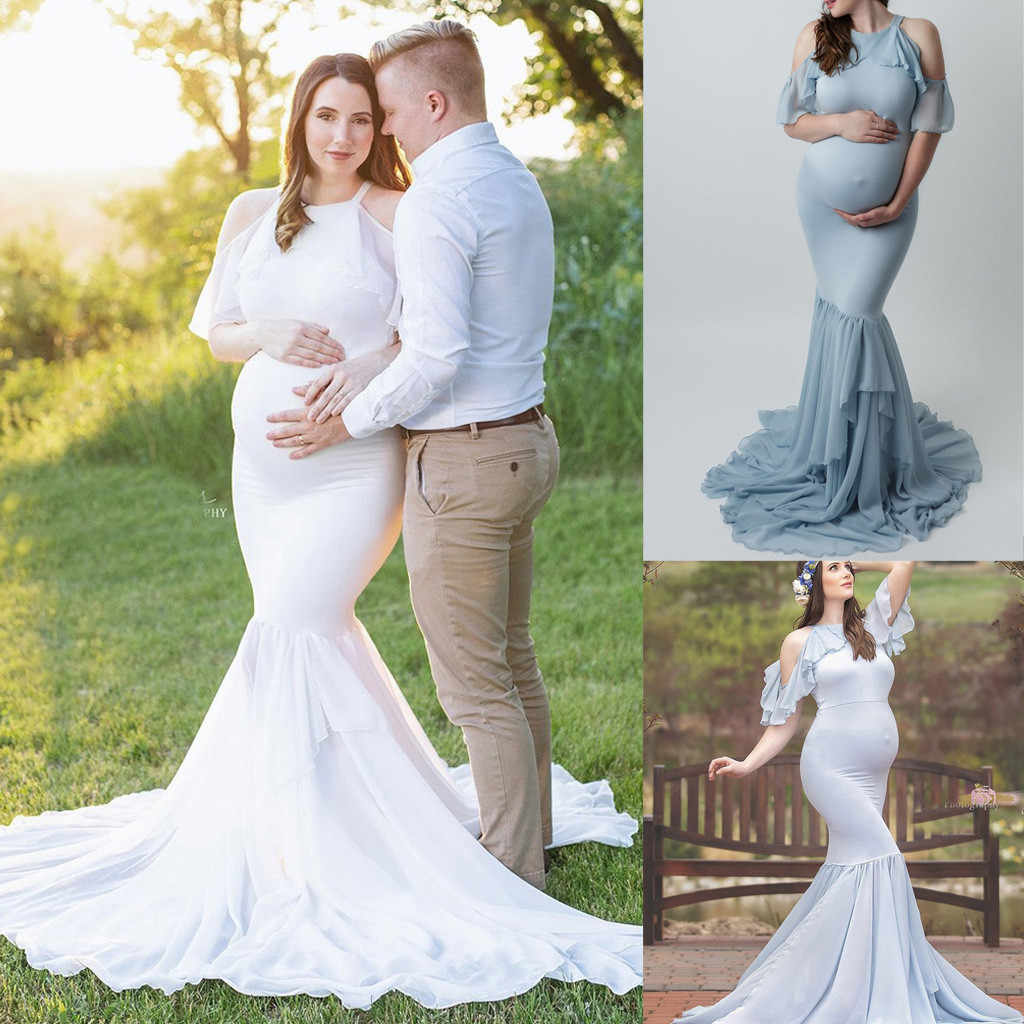 Fishtail Maternity Dresses Wedding Slim Fit Long Dress Prom For Photo Shoot Pregnancy Dress Photography Prop Ruffle Maxi Dress Aliexpress,Wedding Dress Designers Uk