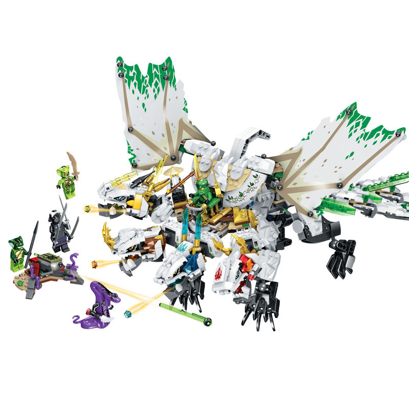 Ninja The Ultra Dragon Movie Flying Mecha Dragon Transformation DIY Building Block Sets Compatible Lepining Ninjagoed Toys image