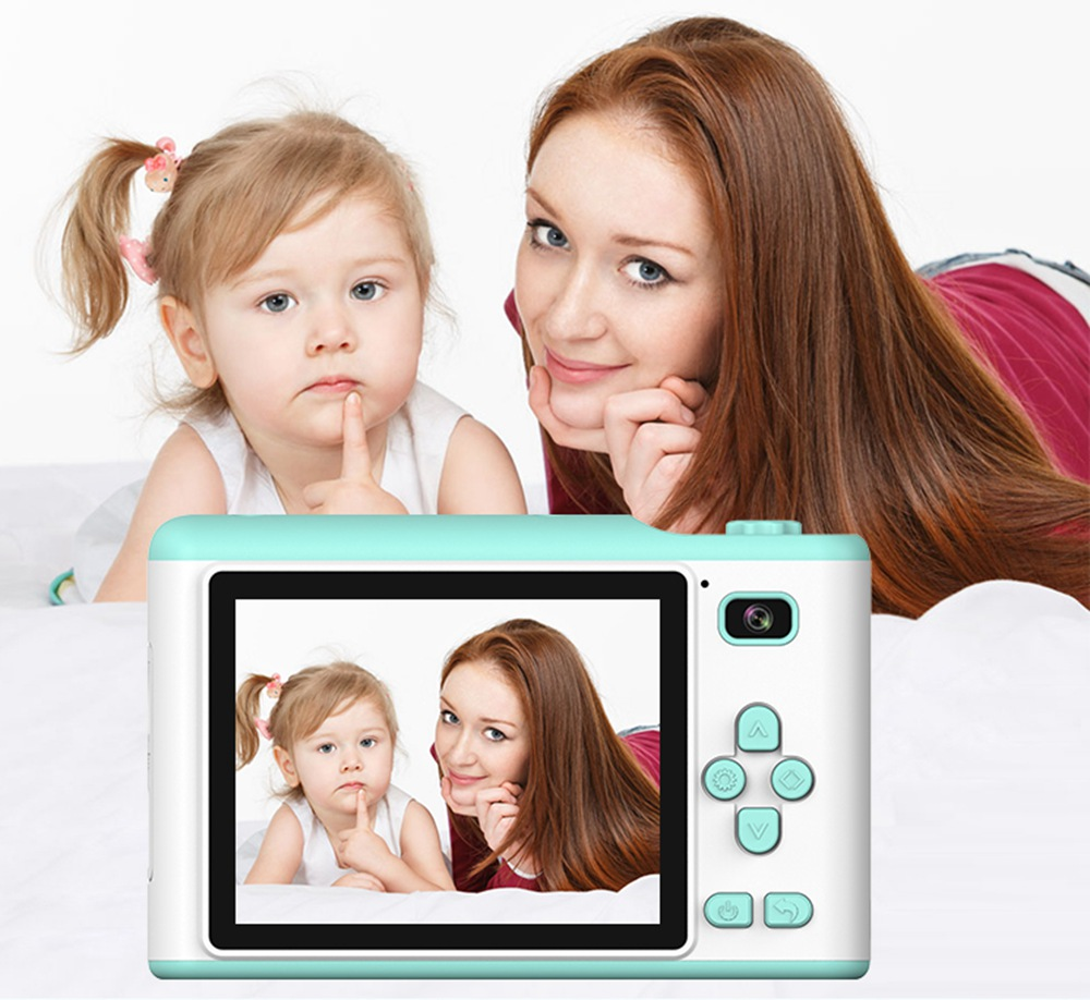 "H95213b4a15f149729f7948874353935ei Children Camera 2.8"" IPS Eye Protection Screen HD Touch Screen Digital Dual Lens 18MP Camera for Kids"