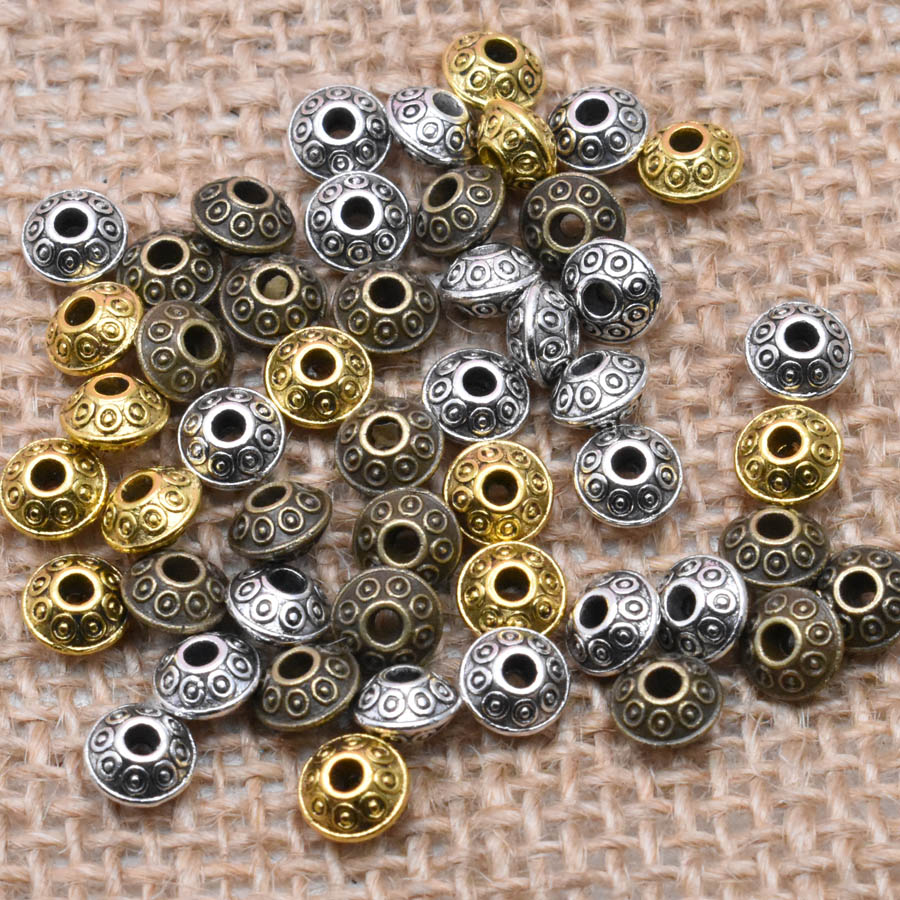 Wholesale Lots  Antique Tibet Silver Beads Spacer Metal Bead For Jewelry Making