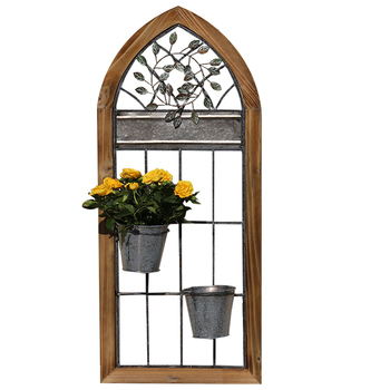 European-style retro flower stand flower bucket stand partition stand flower shop shop wall display stand wall porch decoration