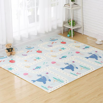 200*180*1cm Reversible Baby Play Mat Double-Sided Crawling Mat Foldable Waterproof Portable Soft Floor Toddlers Infants Carpet Baby & Toddler Toys