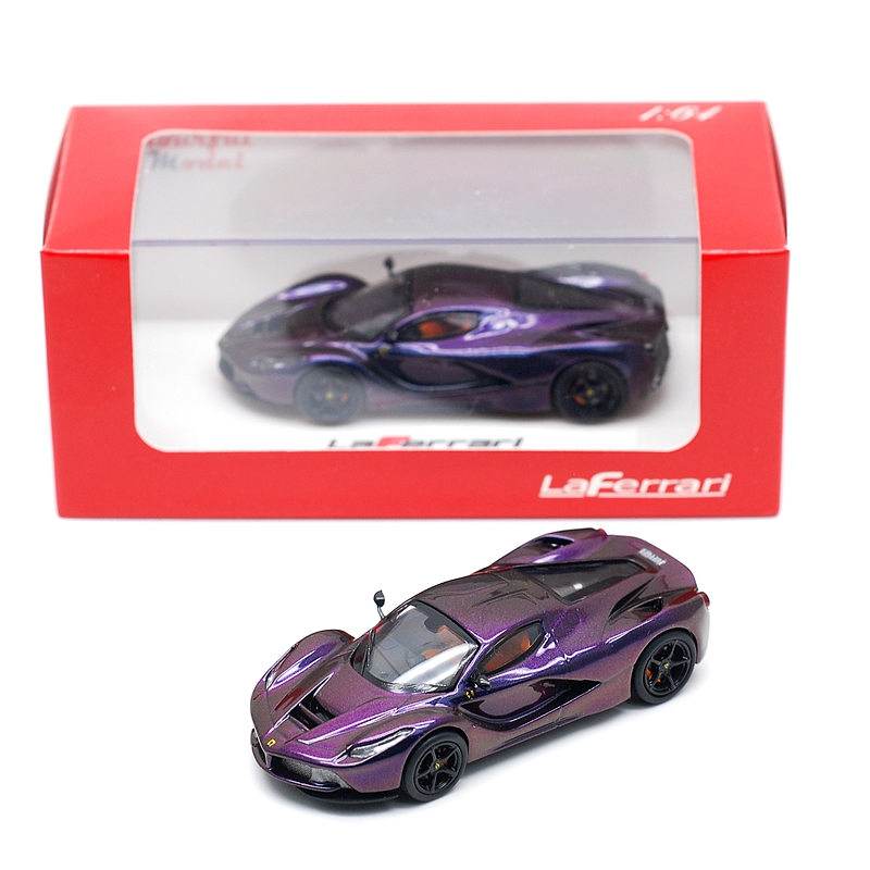 Custom Style 1/64 Fe & Mc Performance Purple Chameleon Diecast Sports Racing Model Car New Year Toy Gift For Kids Children