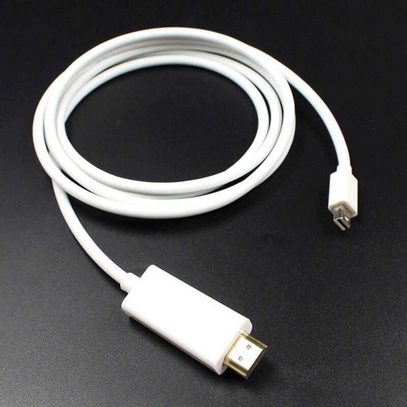 1.8M Mini DisplayPort to Mini DP Male to Male Cable White