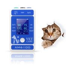 Берри bluetooth hanheld Ветеринарный монитор AM6100 NIBP монитор кровяного давления и пульсоксиметр зонд животный рычаг схема