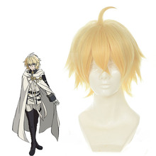 Anime Seraph Of The End Vampire Reign Cosplay Wigs Mikaela Hyakuya Cosplay Wig Synthetic Wig Hair Halloween Party Cosplay Wig seraph of the end yoichi saotome cosplay wig short boy male pixie cut wigs dark brown party dancy hair perruque peluca hombre href