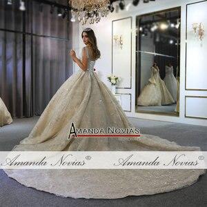 Image 3 - 2020 אוסף אמנדה novias מותג אמיתי עבודה חתונת שמלת כלה שמלה