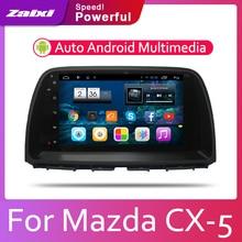 купить ZaiXi Android 2 Din Car radio Multimedia Video Player auto Stereo GPS MAP For Mazda CX-5 2012~2017 Media Navi Navigation дешево