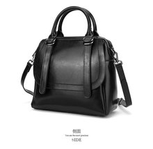 Oil wax leather handbag Vintage ladies handbags elegant women designer bags famous brand 2018