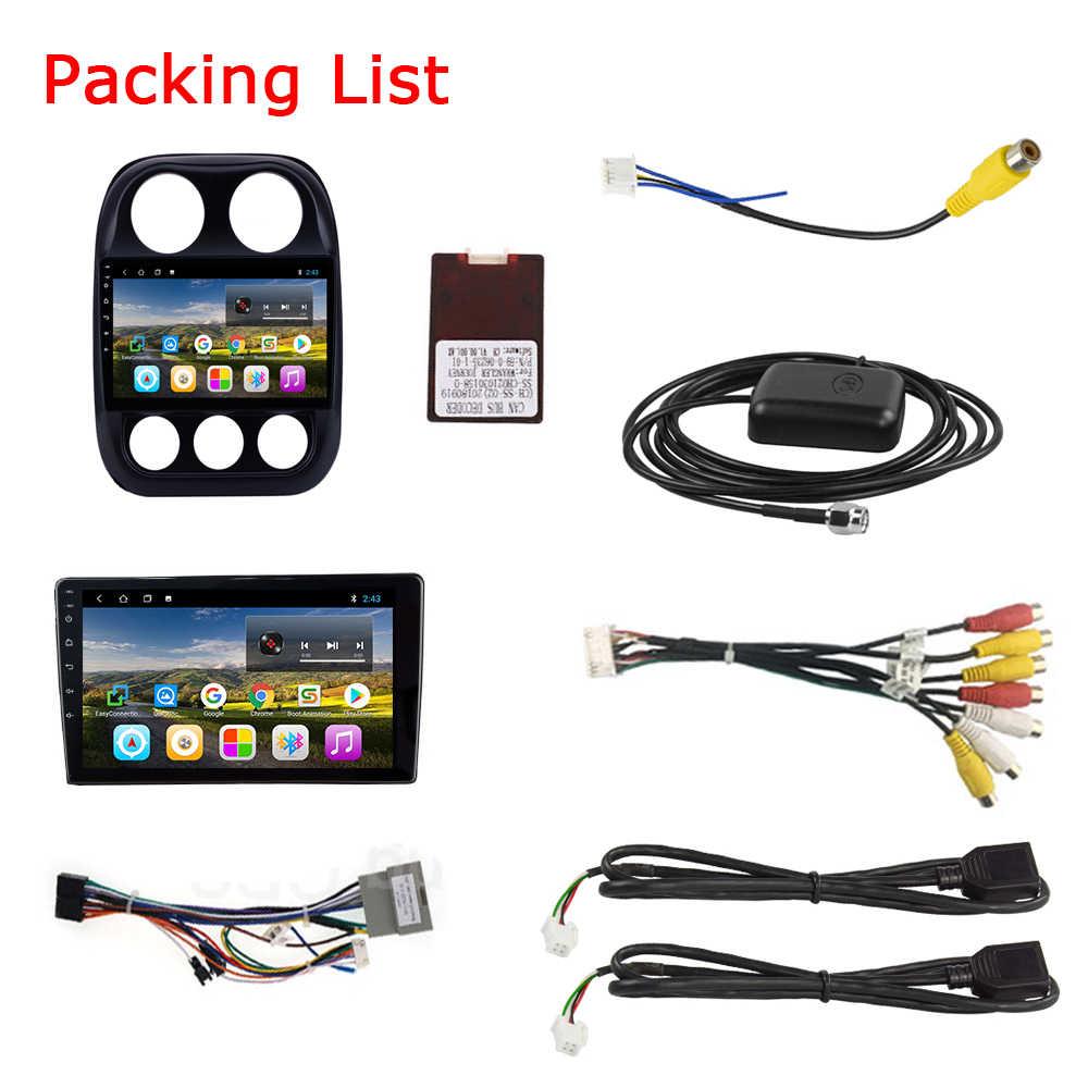 EKIY 9 ''IPS Android 9,0 para JEEP compass 2010, 2012, 2013, 2014, 2015, 2016 -2019 Multimedia estéreo reproductor de DVD del coche de navegación GPS Ra