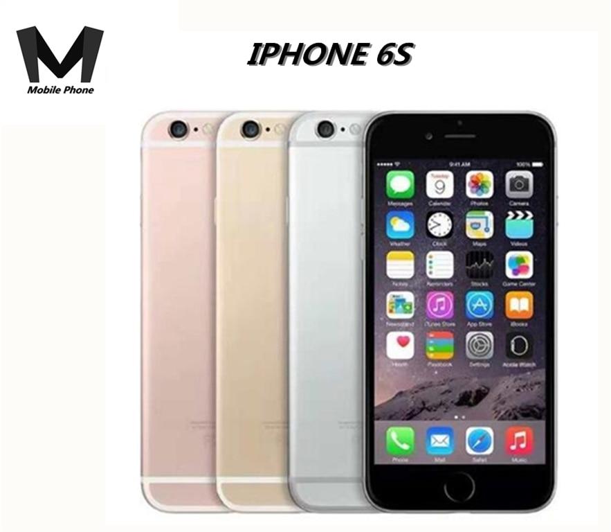 Apple iPhone 6S 4G LTE Reconocimiento de huellas dactilares de doble núcleo 2GB-RAM desbloqueado A9 16 GB/64 GB/128GB ROM IPhone SE de 2GB de RAM 16GB/32GB/64GB/128GB ROM 4,0