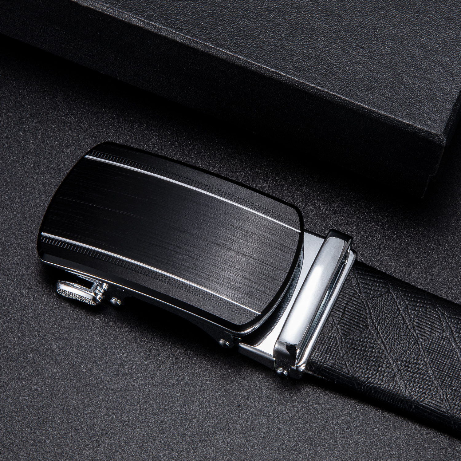 Dropship Brand Automatic Belt Buckles For Men Ratchet Buckle Black Designer Fashion Men's Leather Belt Buckle 3.5cm Width
