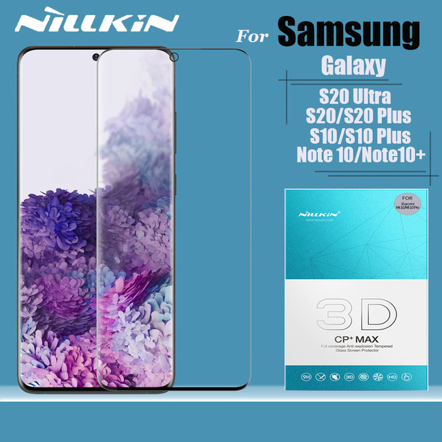 Für Samsung Galaxy S20 S10 S9 Plus S10e S20 Ultra Glas Screen Protector Nillkin 3D Volle Abdeckung Gehärtetem Glas Hinweis 10 Plus 9 8