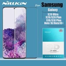 Voor Samsung Galaxy S20 S10 S9 Plus S10e S20 Ultra Glas Screen Protector Nillkin 3D Volledige Cover Gehard Glas Note 10 Plus 9 8