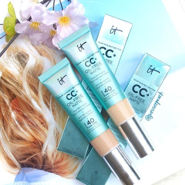 It Cosmetics Concealer Cream Matter Oil-Control Makeup Base Full Cover Dark Circle Eyes SPF 40 Make Up Skin Brighten CC Cream 2